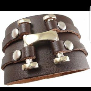 Unisex  Brown Leather Bracelet NWOT